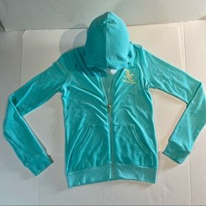 Juicy Couture Aruba Blue Girl's Track Jacket Sz 16
